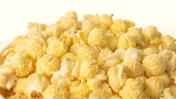 Thumbnail for Popcorn in Box on White, Close Up