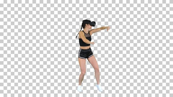 Thumbnail for Girl Playing Virtual Reality Dancing Game Experienced Dancer