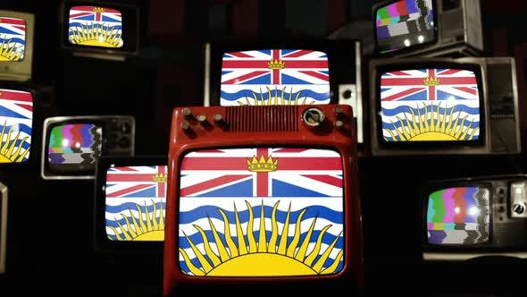 Thumbnail for Flag Of British Columbia, Canada, and Retro TVs.