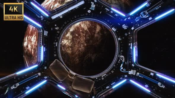 4K - Spaceship And Mars