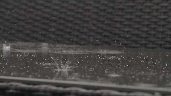 Thumbnail for Rain Making Outdoor Bench Wet