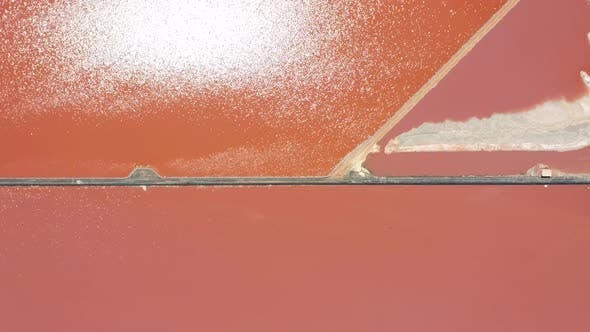 Thumbnail for Salt Sea Water Evaporation Ponds with Pink Colour