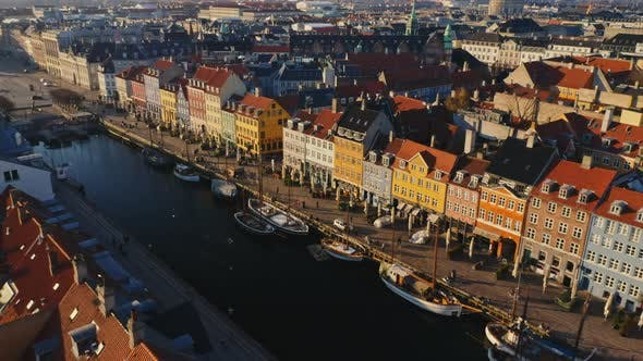 Thumbnail for Scenic Cityscape Aerial View in Copenhagen, Denmark