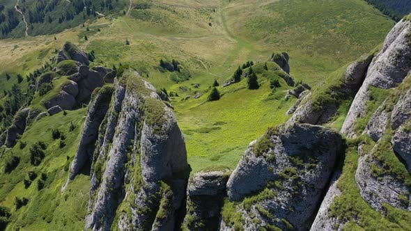 Thumbnail for Flying Above Conglomerate Cliffs in the Carpathian Mountains