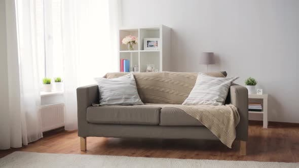 Thumbnail for Sofa with Cushions at Cozy Home Living Room