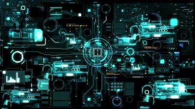 Blue futuristic abstract digital device