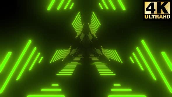 5 Neon Arrow Tunnel Pack 4k