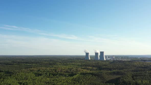 Thumbnail for Smoking Cooling Towers at Nuclear Power Plant