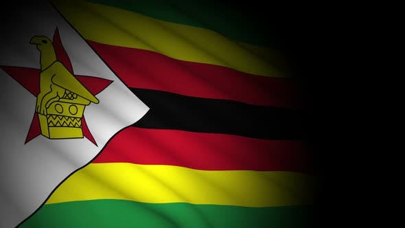 Cover Image for Zimbabwe Flag Blowing in Wind
