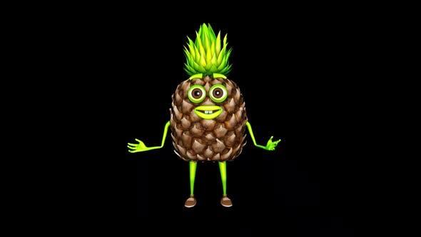 Pineapple Gesture Loop On Alpha Channel