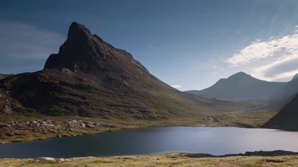 trollstigen pass lake water norway nature timelapse
