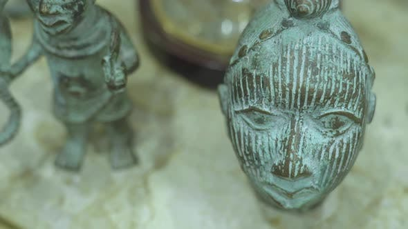 Thumbnail for Antique Shop Old Oxidized Copper Figure And Mask