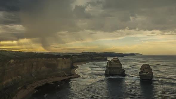 Thumbnail for Timelapse of rainy clouds on Australian coast