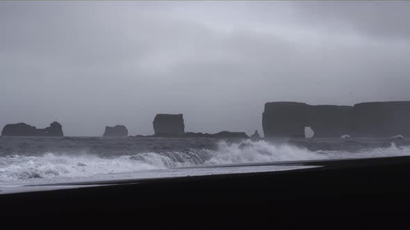 Thumbnail for Strong Waves Breaking at Black Beach Iceland