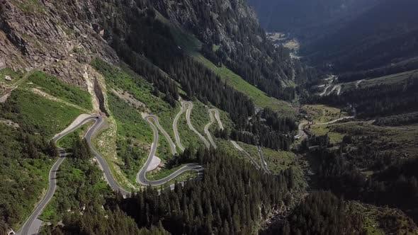Thumbnail for Aerial View of Silvretta-Bielerhohe Road, Austria