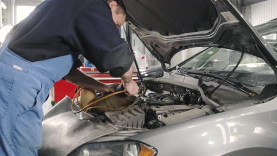 Thumbnail for Mechanic Prepares Tools For Brake System Servicing.