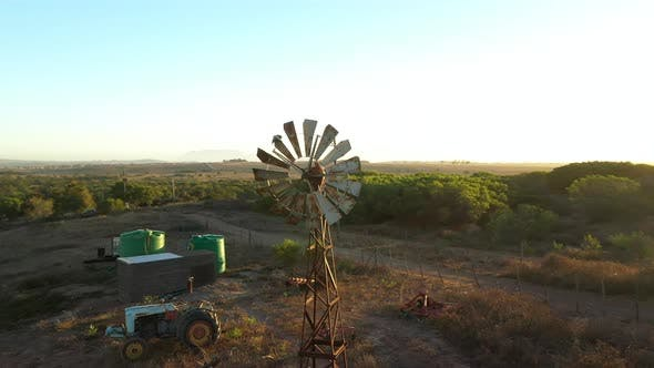 Thumbnail for Old Windmill Located at a Gas Station, South Africa