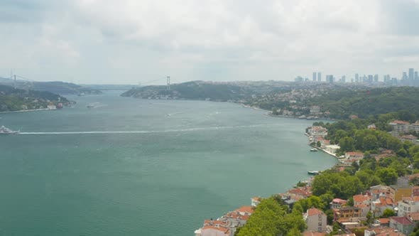 Thumbnail for Istanbul Bosphorus And Waterside House Aerial View 3