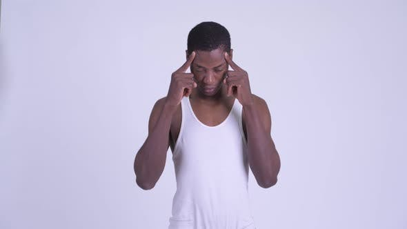 Cover Image for Young Stressed African Man Having Headache