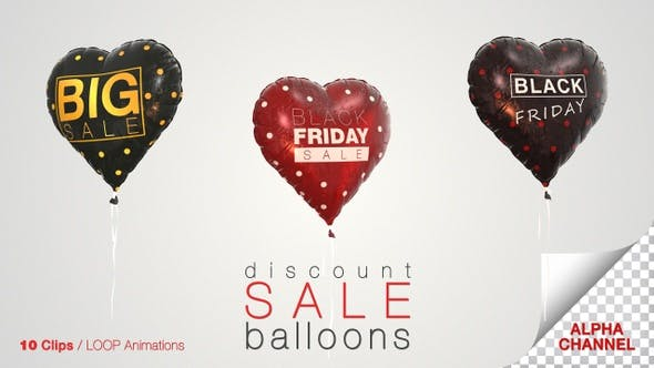 Thumbnail for Black Friday Discount Sale Balloons