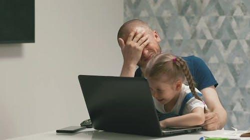 Slow Motion Little Child Explain Pampering