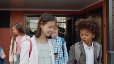 School Kids Going out of School