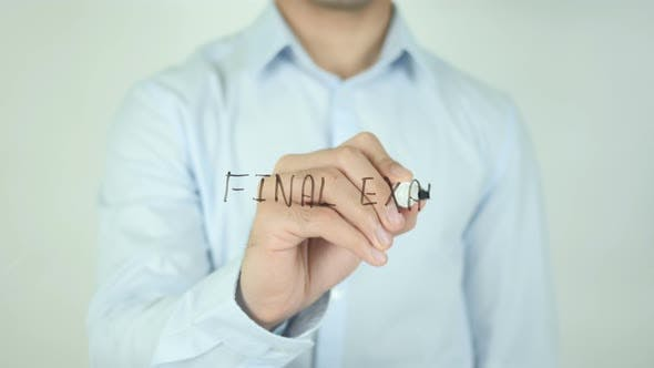Cover Image for Final Exam, Writing On Screen