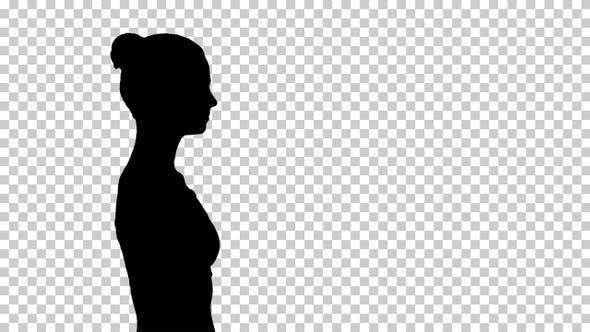 Thumbnail for Silhouette Woman walking, Alpha Channel