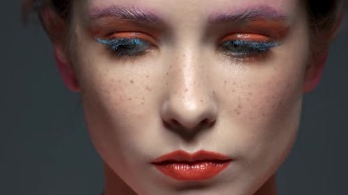 Female Face, Beautiful Artistic Makeup.