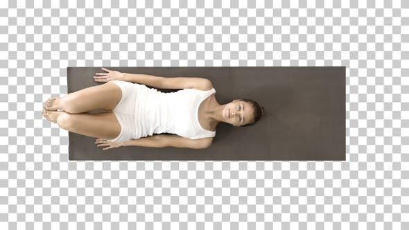 Thumbnail for Woman practicing yoga standing in salamba sarvangasana exercise,
