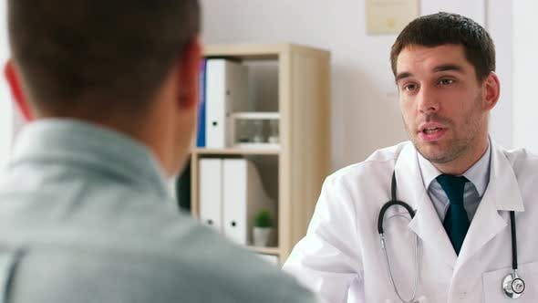 Thumbnail for Happy Doctor and Male Patient Meeting at Hospital 10
