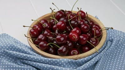 A Bowl of Fresh Washed Cherries