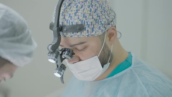 Two professional surgeons on operation