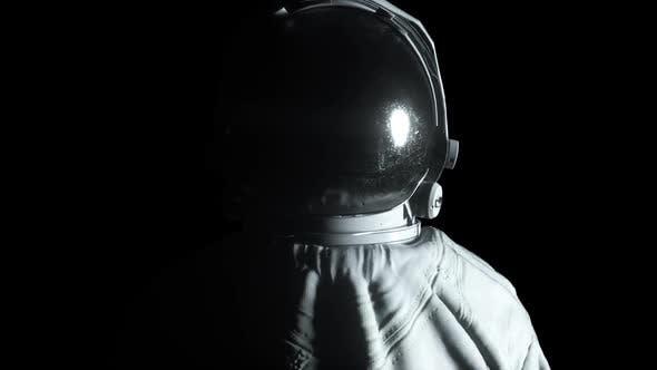 Thumbnail for Circular Light Flashes Around an Astronaut