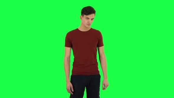 Thumbnail for Guy Posing at the Camera. Green Screen