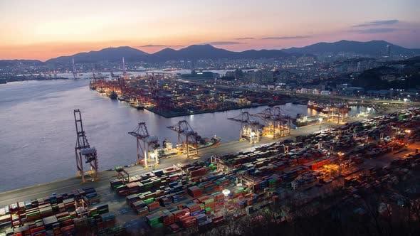 Aerial River Port Automobile Line Busan, Korea