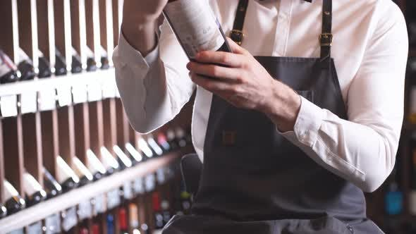 Thumbnail for Immersed Alcohol Critic Fixedly Gazing at Wine