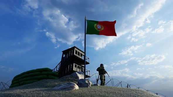 Soldier Protecting Guard by Portugal