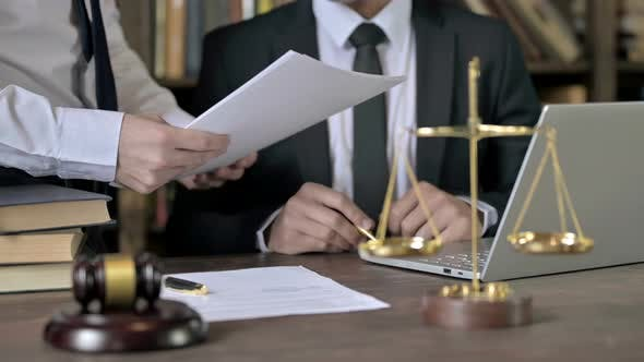 Thumbnail for Close Up Shoot of Judge Hand Reading and Signing the Document