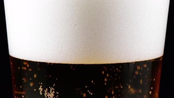 Glas Bier Zoom In