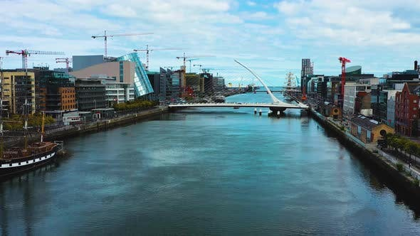 Thumbnail for Cinematic aerial footage of Dublin city.