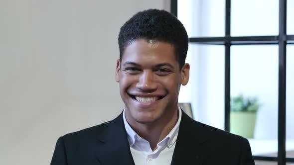 Amazed, Surprised Black Businessman