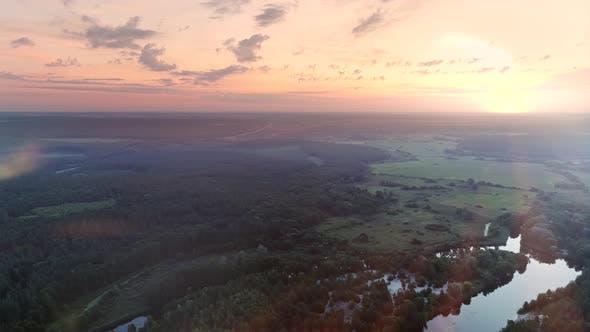 Thumbnail for Nature Aerial Landscape Sunrise