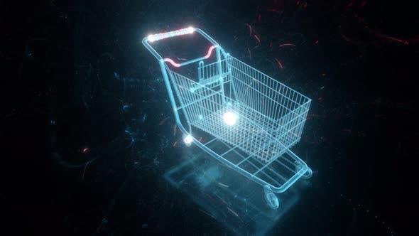 Digital Empty Shopping Cart 4k