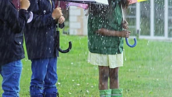 Thumbnail for Children Laughing in Heavy Rain