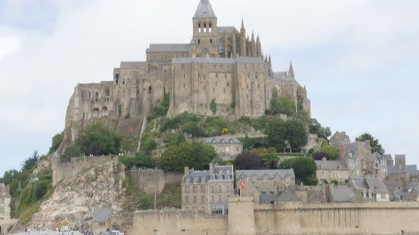 Thumbnail for Mont Saint Michel island near La Manche in Normandy France 4K 3840X2160 UHD video - Mt Saint Michel