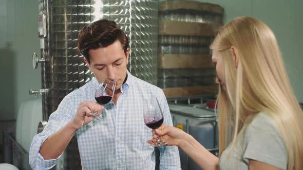 Thumbnail for People Degustating Wine with Sommelier