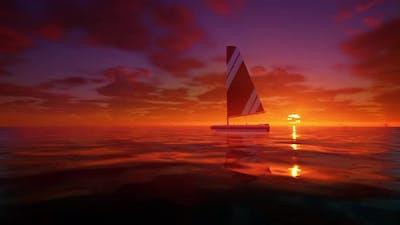 Boat At Sea 4K