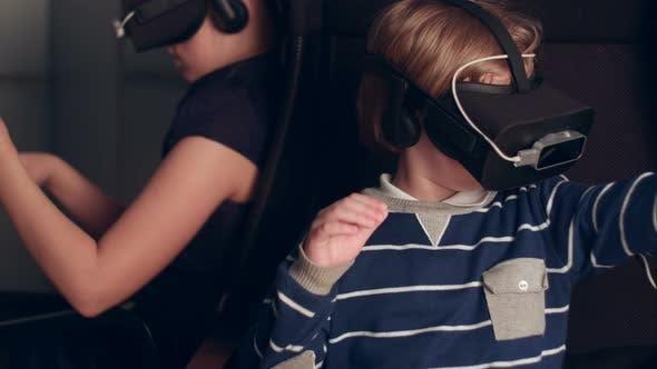 Thumbnail for Children Enjoying Virtual Reality Attraction