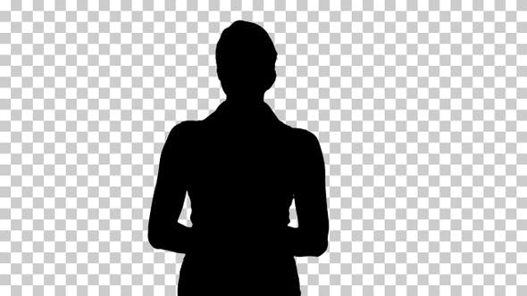 Thumbnail for Silhouette Beautiful woman smiling and looking to camera
